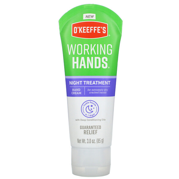 O'Keeffe's, Working Hands, Night Treatment, Hand Cream, 3.0 oz (85 g)