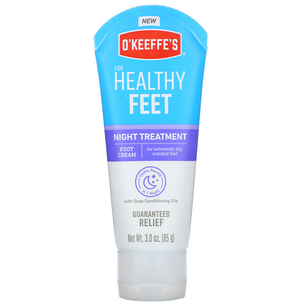 O'Keeffe's, Healthy Feet, Night Treatment, Foot Cream, 3.0 oz (85 g)