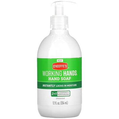 O'Keeffe's Working Hands Hand Soap, Unscented, 12 fl oz (354 ml)