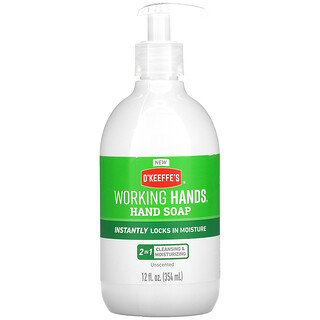 O'Keeffe's, Working Hands Hand Soap, Unscented, 12 fl oz (354 ml)
