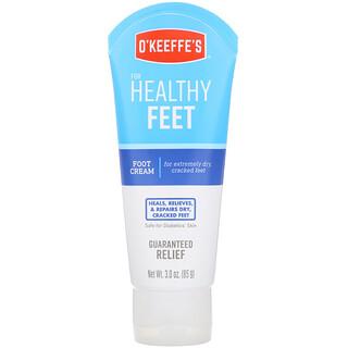 O'Keeffe's, 健康足部,足部霜,无香,3盎司(85克)
