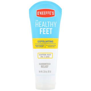 O'Keeffe's, 去角质润足霜,适合特别干燥、开裂的足部,3盎司(85克)