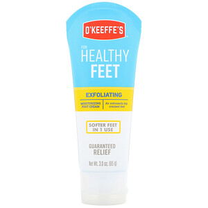 ОКиффес, Exfoliating Moisturizing Foot Cream, For Extremely Dry, Cracked Feet, 3 oz (85 g) отзывы покупателей