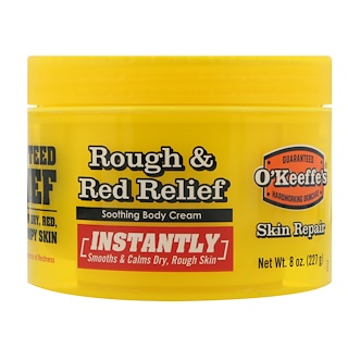 O'Keeffe's, Rough & Red Relief, Soothing Body Cream, 8 oz (227 g)