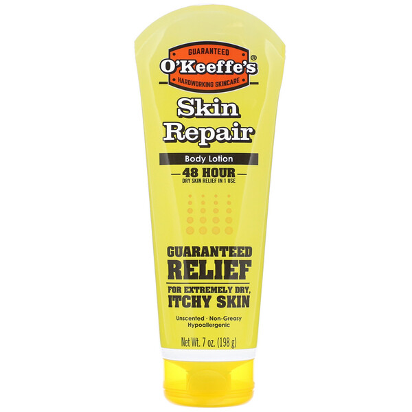 O'Keeffe's, Skin Repair Body Lotion, Uncented, 7 oz (198 g) (Discontinued Item)