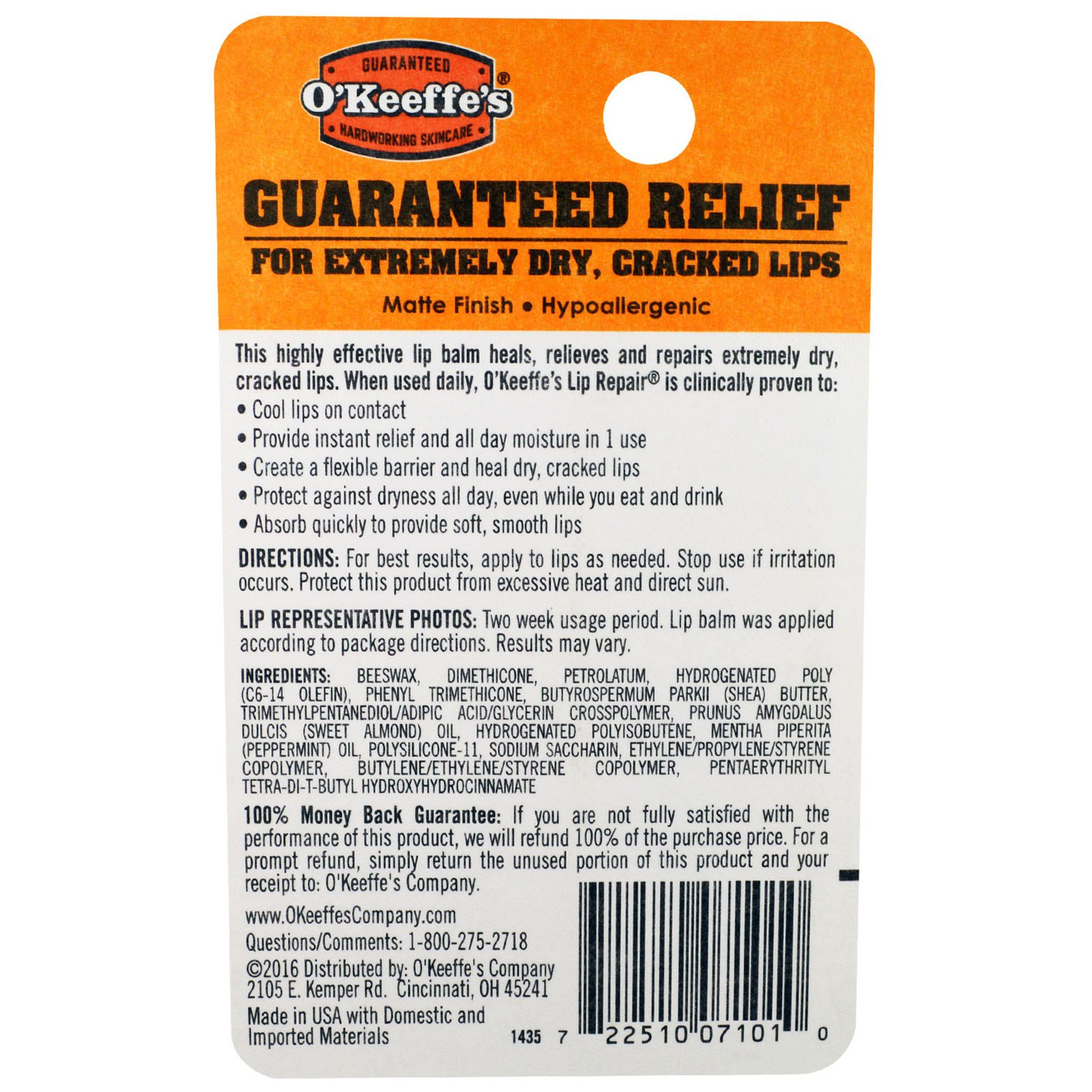 Lip Balm Lip Repair Cooling Relief by O'Keeffe's #6