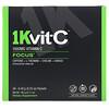 1Kvit-C, Mélange à boire effervescent pour la concentration, VitamineC, Arôme naturel d'orange, 1000mg, 30sachets, 6,40g chacun