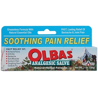 Olbas Therapeutic, Analgesic Salve, Natural Herbal Formula, 1 oz (28 g)