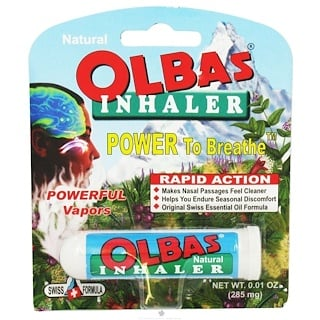 Olbas Therapeutic, 흡입기, 0.01 oz (285 mg)