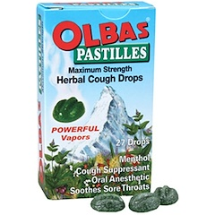 Olbas Therapeutic, Pastilles, Herbal Cough Drops, Maximum Strength, Menthol, 27 Drops