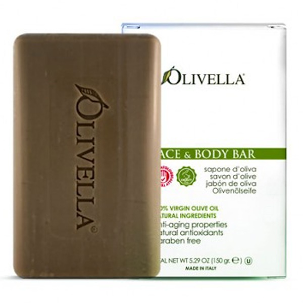 Olivella, Face & Body Bar, 5.29 oz (150 g)