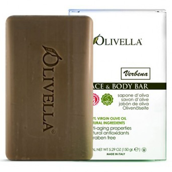 Olivella, Face & Body Bar, Verbena, 5.29 oz (150 g) (Discontinued Item)