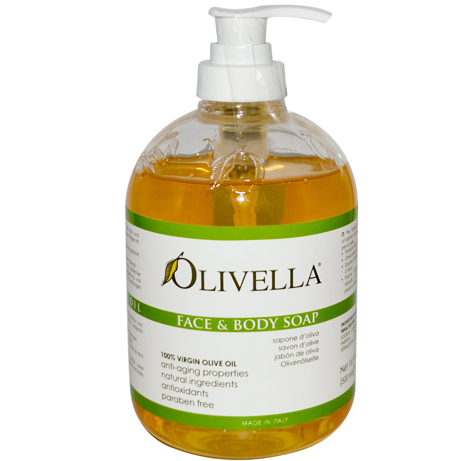 Olivella, Мыло для лица и тела 16.9 жидких унции (500 мл)