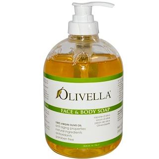 Olivella, フェイス アンド ボディー ソープ、16.9 fl oz (500 ml)