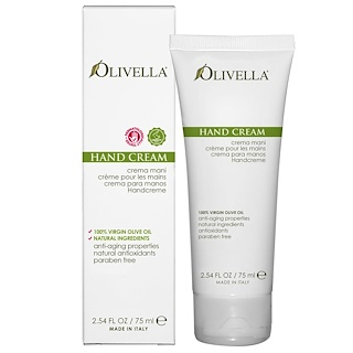 Olivella, Crema de manos, 75 ml (2,54 fl oz)
