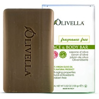 Olivella, Face & Body Bar, Fragrance Free, 3.52 oz (100 g)