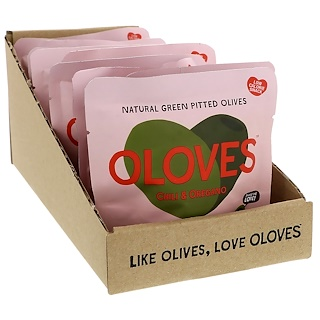Oloves, Chili & Oregano, 10 Packs, 1.1 oz (30 g) Each