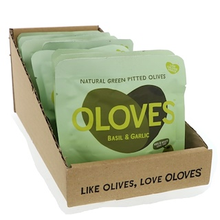 Oloves, Basil & Garlic, 10 Packs, 1.1 oz (30 g) Each