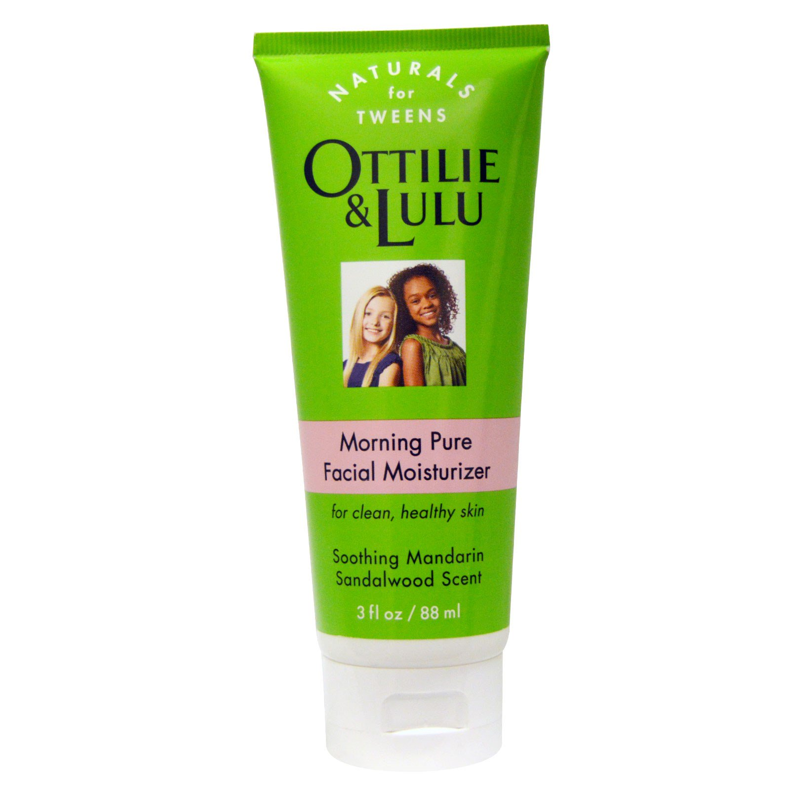 Ottilie Lulu, Morning Pure, увлажняющий крем для лица, с ароматом мандарина и сандала 3 жидких унций (88 мл)