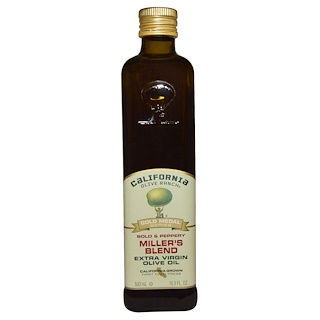 California Olive Ranch, Miller's Blend, Extra Virgin Olive Oil, 16.9 fl oz (500 ml)