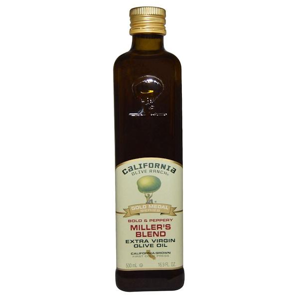 California Olive Ranch, Смесь Миллера, оливковое масло, 16,9 жидк. унц. (500 мл)