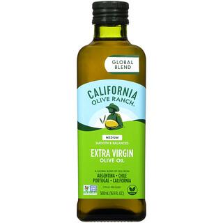 California Olive Ranch, Global Blend, Extra Virgin Olive Oil, Medium, 16.9 fl oz (500 ml)