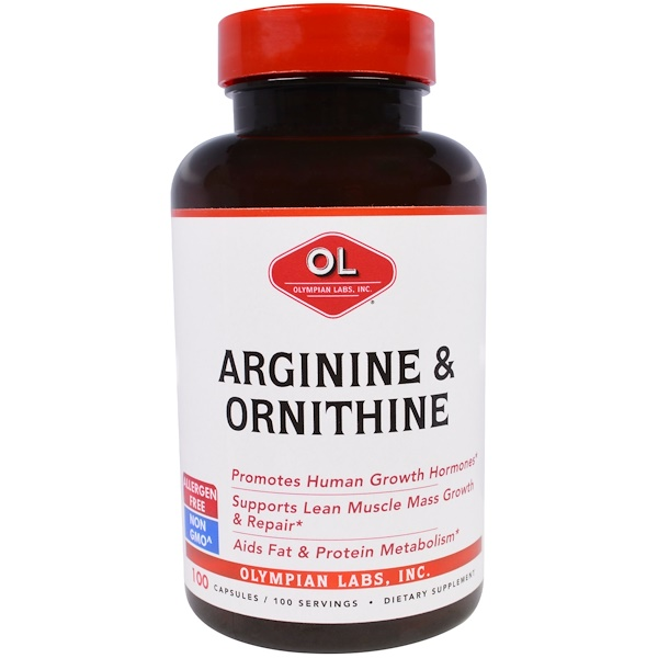 Olympian Labs, Arginine & Ornithine, 100 Capsules (Discontinued Item)