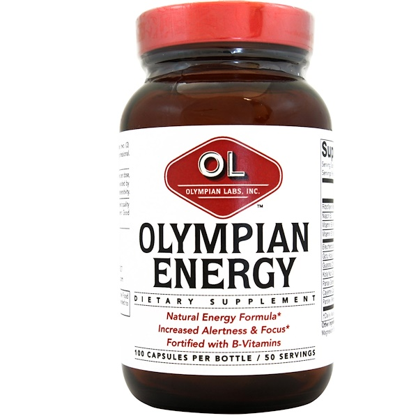 Olympian Labs, Olympian Energy, 100 Capsules (Discontinued Item)