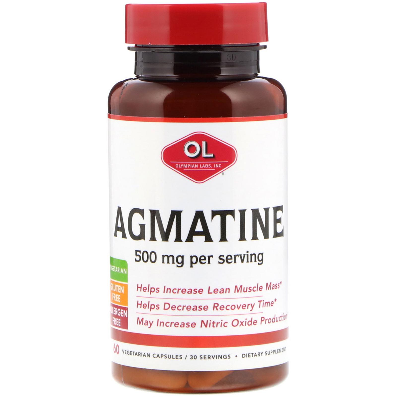 Olympian Labs Inc , Agmatine, 500 mg, 60 Vegetarian Capsules - iHerb com