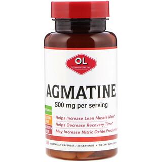 Olympian Labs Inc., Агматин, 500 мг, 60 вегетарианских капсул