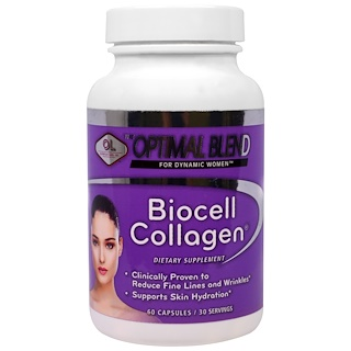 Olympian Labs Inc., Optimal Blend, Biocell Collagen, For Women, 60 Capsules