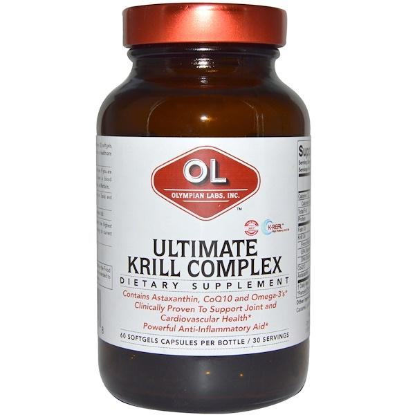 Olympian Labs Inc., Ultimate Krill Complex, 60 Softgel