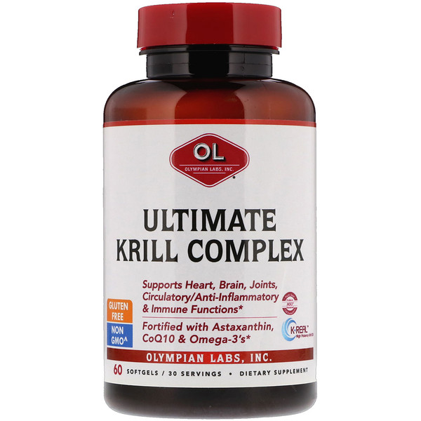 Olympian Labs, Ultimate Krill Complex, 60 Softgels (Discontinued Item)