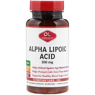 Olympian Labs Inc., Alpha Lipoic Acid, 200 mg, 60 Vegetarian Capsules