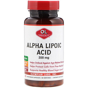 Олимпиан Лэбс, Alpha Lipoic Acid, 200 mg, 60 Vegetarian Capsules отзывы