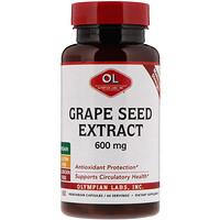 Экстракт виноградных косточек, максимальная сила, 600 мг, 60 вегетарианских капсул - фото