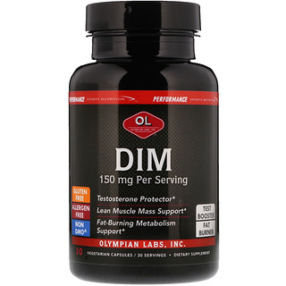 Olympian Labs Inc., Performance Sports Nutrition, DIM, 150 mg, 30 Vegetarian Capsules