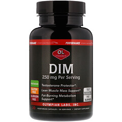 Olympian Labs Inc., Performance Sports Nutrition, DIM, 250 mg, 30 Vegetarian Capsules