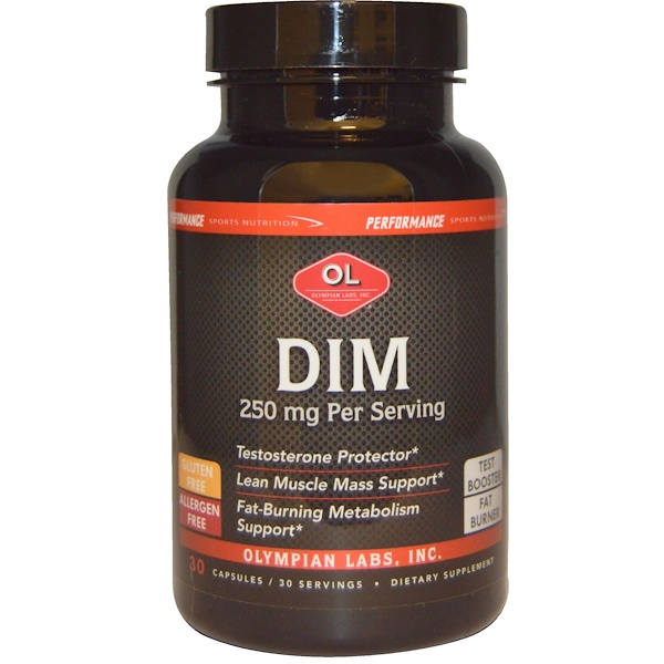 Olympian Labs Inc., Performance Sports Nutrition, DIM, 250 mg, 30 Capsules