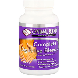 Olympian Labs Inc., Optimal Blend, Complete Digestive Blend, For Women, 60 Capsules