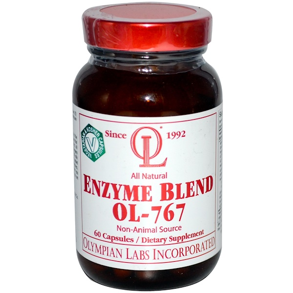 Olympian Labs Inc., Enzyme Blend OL-767, 60 Capsules (Discontinued Item)