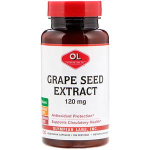 Олимпиан Лэбс, Grape Seed Extract, 120 mg, 100 Vegetarian Capsules отзывы покупателей