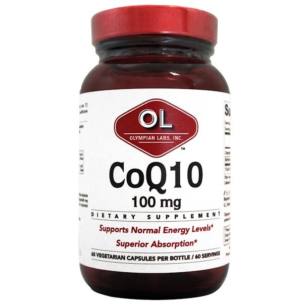 Olympian Labs, CoQ10, 100 mg, 60 Veggie Caps (Discontinued Item)