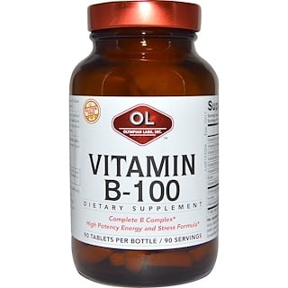 Olympian Labs Inc., Vitamin B-100, 90 Tablets