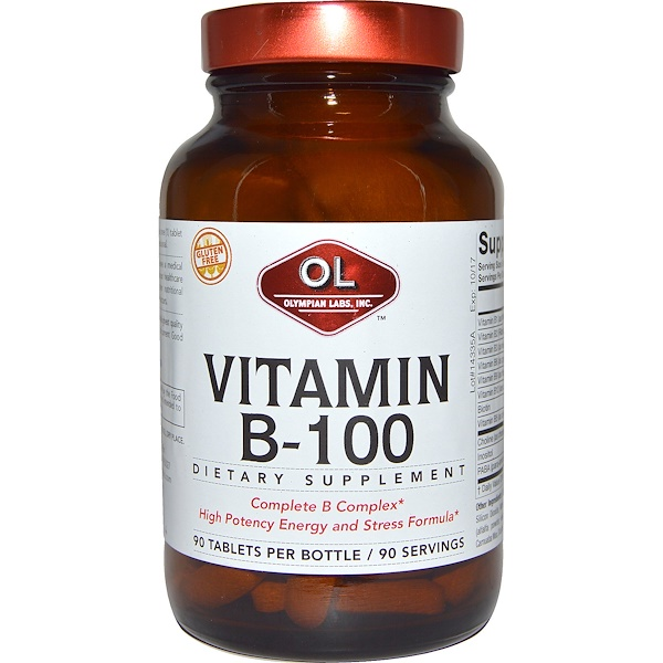 Olympian Labs Inc., Vitamin B-100, 90 Tablets (Discontinued Item)