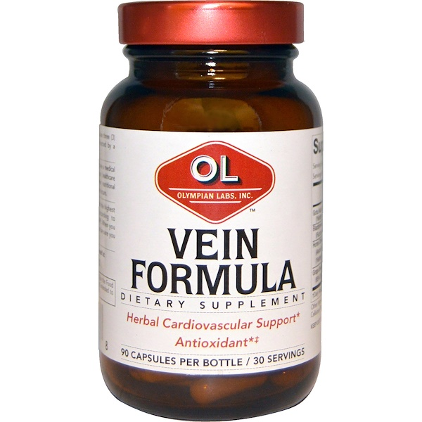 Olympian Labs Inc., Vein Formula, 90 Capsules (Discontinued Item)