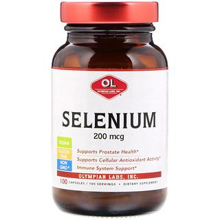 Olympian Labs Inc., Selenium, 200 mcg , 100 Capsules