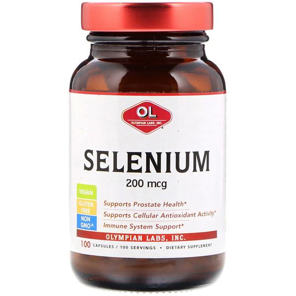Olympian Labs Inc、, Selenium, 200 mcg , 100 Capsules