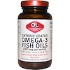 Olympian Labs Inc., Omega-3 Fish Oils, Enteric Coated, 2000 mg, 120 Softgels (Discontinued Item)