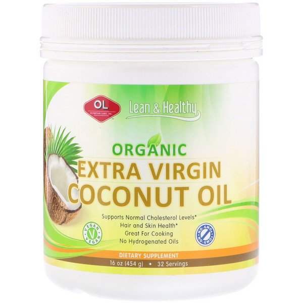 Olympian Labs, Organic Extra Virgin Coconut Oil, 16 oz (454 g) (Discontinued Item)